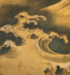 Detail. Rough Waves. Ogata Kōrin