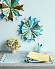 paper pinwheels // martha stewart