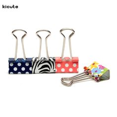 1pcs Colorful Floral Metal Foldback Binder Clips Stationary For Ticket Paper Documents Office School Supplies Color Randomly