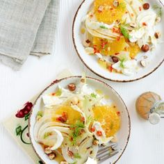 Orange, Fennel & Hazelnut Salad with a Ginger & Chilli Dressing Recipe - Woman And Home