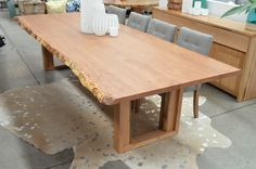 Exquisite WA Blackbutt new Edge design Dining Table. Rare 2 piece natural edge for 3000mm tables. Come in store to view this beauty.