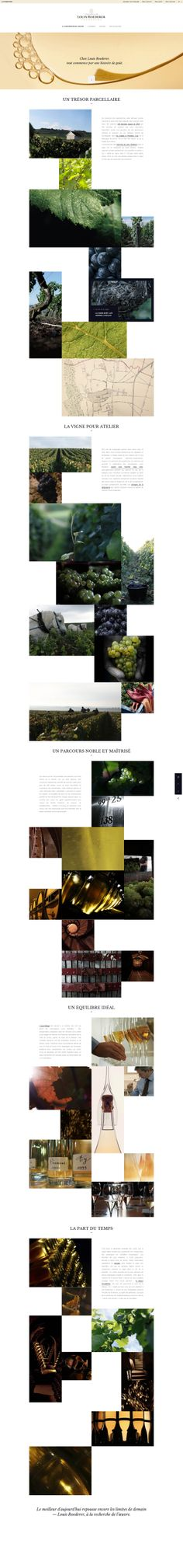 Champagne Louis Roederer Clean & beautiful web design with nice grid. Web Design Tools, Web Ui Design, Email Design, Tool Design, Graphic Design, Great Website Design, Website Design Layout, Web Layout, Roederer Champagne