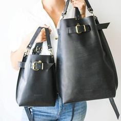Leather Backpack Women Convertible Backpack Backpack Purse   Etsy Brown Leather Backpack, Black Leather Bags, Black Backpack, Leather Crossbody Bag, Leather Purses, Leather Shoulder Bag, Leather Wallet, Black Tote, Black Suede
