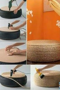 Tekerlekten pufpuf koltuk :) DIY Crafts