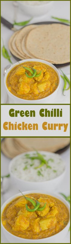 This green chilli chicken curry is one lean mean spicy dish. Lean in terms of being lower in calories than an average restaurant curry and spicy depending on whether you decide to leave the seeds in the chillies or not! With cumin, ginger and garam masala all combined together in this dish, you can be sure this is a rich tasting and deep flavoursome curry.