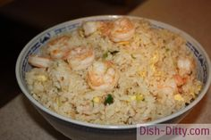 Shrimp Fried Rice by Dish Ditty Recipes Shrimp Recipes, Rice Recipes, Asian Recipes, Dinner Recipes, Cooking Recipes, Dinner Ideas, Chinese Recipes, Weeknight Recipes, Soups