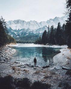 pinterest: @lilyosm | travel wanderlust mountains trees lake backpacking trip wild wilderness