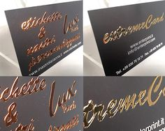 Business card con plastifica soft touch e  parte della grafica in lussuoso rilievo metallizzato lux touch