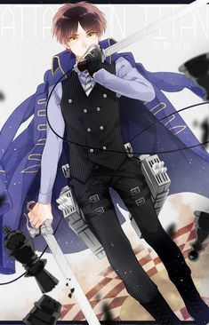 Art By Tacumi   It's eren as like a cross between a titan fighter and a butler what is this