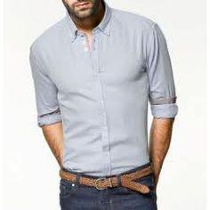 Chemise Zara homme bleu ciel