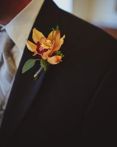 boutonnieres for weddings | Orchid-Boutonniere - Elizabeth Anne Designs: The Wedding Blog