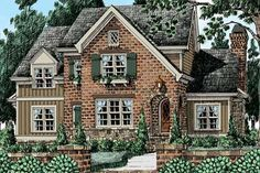 Cottage House Plans, Cottage Homes, Cottage House Styles, Best House Plans, House Floor Plans, Suburban House, Traditional House Plans, Traditional Exterior, Sims House