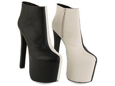 Today's So Shoe Me is the Tag Boot by YES, $140, available at Solestruck. Add some contrast to the common closet with these monstrous monochrome booties by YES.