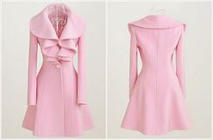 pink lotus leaf collar wool coat...I love the ruffles, i just wish it was a darker pink.