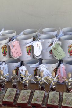 Custom made coffee mugs for  first communion  favors.