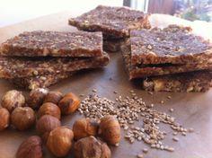 Hazelnut-Sesame Seed Bars--takes coconut butter
