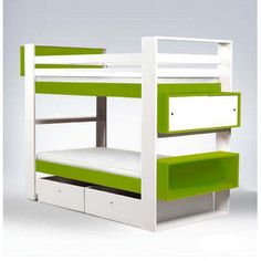 FREE SHIPPING! Shop Wayfair for ducduc Austin Twin over Twin Bunk Bed with Bookshelves and Storage - Great Deals on all Furniture products with the best selection to choose from!