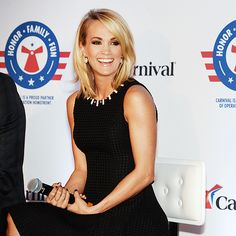 Star Tracks: Friday, January 29, 2016 | 'CARRIE' ON | Anchors aweigh! Carrie Underwood can't stop grinning as she announces a partnership with Carnival Cruise Lines at a press conference in Jacksonville, Florida, on Thursday.