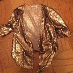 Calvin Klein Gold sequin 3/4 sleeve blazer NWOT!! Calvin Klein Jackets & Coats Blazers