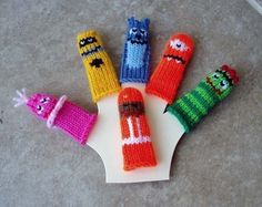 Finger Puppet Sets by WeeKnits | Apartment Therapy