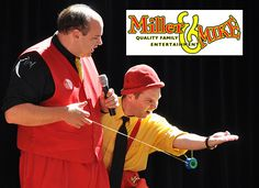 The Miller and Mike show is perfect for any event that focuses on Family.  Our interactive comedy juggling show and strolling entertainment are perfect for any event geared towards families as a way to gather and laugh together.  This event takes place on Tuesday, June 27, with shows at 1:30 or 3:00.