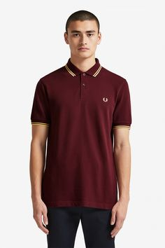 The Original Men's Fred Perry Shirt. Fred Perry Polo Shirts, Fred Perry Shirt, Polo T Shirts, Maroon Shirts, Twin Tips, Long Sleeve Shirts, Sportswear, Street Wear, T Shirts