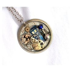 "Doctor Who Necklace ""Gallifreyan Spacetime"" ❤ liked on Polyvore featuring jewelry and necklaces"