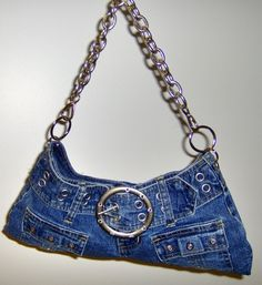 Cheryl Brooks Denim Handbags : The Best Jeans, Accessories, and Premium DenimSew fashionable bags out of old denim items. Bag Jeans, Denim Tote Bags, Denim Handbags, Denim Purse, Handbags On Sale, Fashion Handbags, Fashion Bags, Blue Jean Purses, Boho Bags