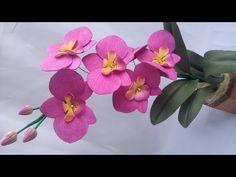13- Orquídea de E.V.A  sem frisador.  moldada com um coco ou semente de abacate. - YouTube