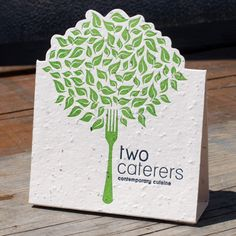 Two Caterers Contemporary Cuisine: Plant Those Table Tents!