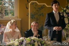 The brand new series of #Sherlock continues tomorrow at 8.30pm on BBC One when Sherlock faces his biggest challenge of all - delivering a Best Man's speech on John's wedding day! But all isn't quite as it seems. Mortal danger stalks the reception - and someone might not make it to the happy couple's first dance. Sherlock must thank the bridesmaids, solve the case and stop a killer. We'll have exclusive new pictures from the series at midnight tonight.