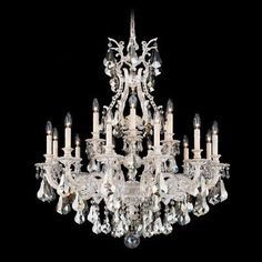 Schonbek Sophia 18 Light Crystal Chandelier Finish: French Gold, Crystal Color: Strass Golden Teak