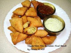 Veggie/Aloo Mini Samosas | Fauzia's Kitchen Fun