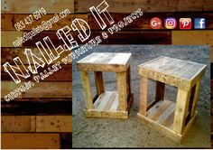 Pallet wood side / coffee tables. Perfect for the living or bed room #palletfurnituredurban #naileditpalletfurniture #custompalletfurniture #palletwoodfurniture