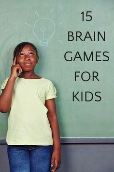 The best brain games for kids that can be played anytime, anywhere. Screen-free activity ideas that grow kids' brains. 3 categories of brain teasers, puzzles and game for one or more players. - Kids education and learning acts Kids Brain Games, Free Brain Games, Fun Brain, Puzzle Games For Kids, Brain Gym, Fun Games For Kids, Brain Activities, Free Activities, Puzzles For Kids