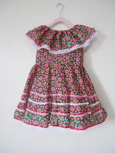 Vestido festa junina infantil +tiara 009