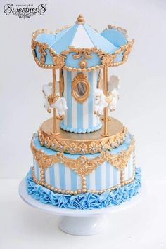 Lovely detail on this carousel cake