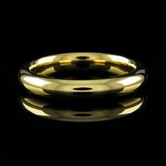 Steel by Design 18K Yellow Gold GP Steel Silk Fit Stack Ring 10 #SteelbyDesign #Band #qvcx
