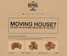 Organising your home & need some boxes? Buy these cardboard boxes that really help the homeless!   http://depaulbox.co.uk/
