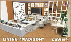 """Sims 4 CC's - The Best: Living """"Madison"""" by pqSim4"""