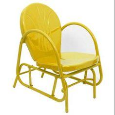 Sunshine+Yellow+Retro+Metal+Tulip+Single+Glider