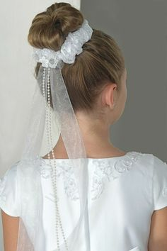 First Communion hairstyles children hairstyles girl updo