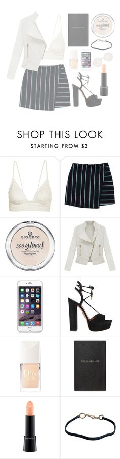 """Let's go to Las Vegas !"" by mode-222 ❤ liked on Polyvore featuring ViX, Essence, Aquazzura, Christian Dior, Smythson, MAC Cosmetics, Prada and Illesteva"