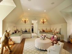 converted attic playroom.