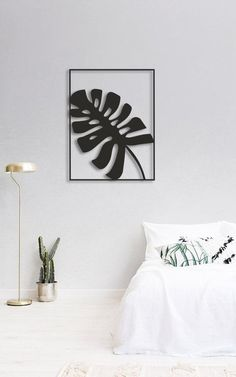 Monstera Metal Wall Decor Modern Living Room Decor Monstera image 2
