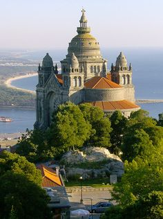 I want to visit Portugal. (Photo of Basilica de Santa Luiza, Viana do Castelo, Portugal) Places Around The World, Oh The Places You'll Go, Travel Around The World, Places To Travel, Places To Visit, Around The Worlds, Beautiful Castles, Beautiful Buildings, Beautiful World