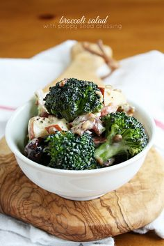 Broccoli Salad w/ homemade Poppy Seed Dressing--perfect for picnics, potlucks, and summer dinner parties! from Lulu the Baker