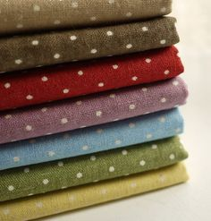 Cotton  Fabric Cloth DIY Cloth Art Manual Cloth Polka by JolinTsai, $7.90
