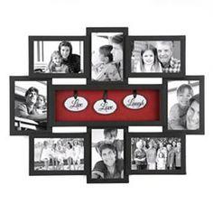 Live Love Laugh Shadowbox Black Collage Frame