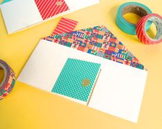 Washi tape cottage card- Great for housewarming gift!